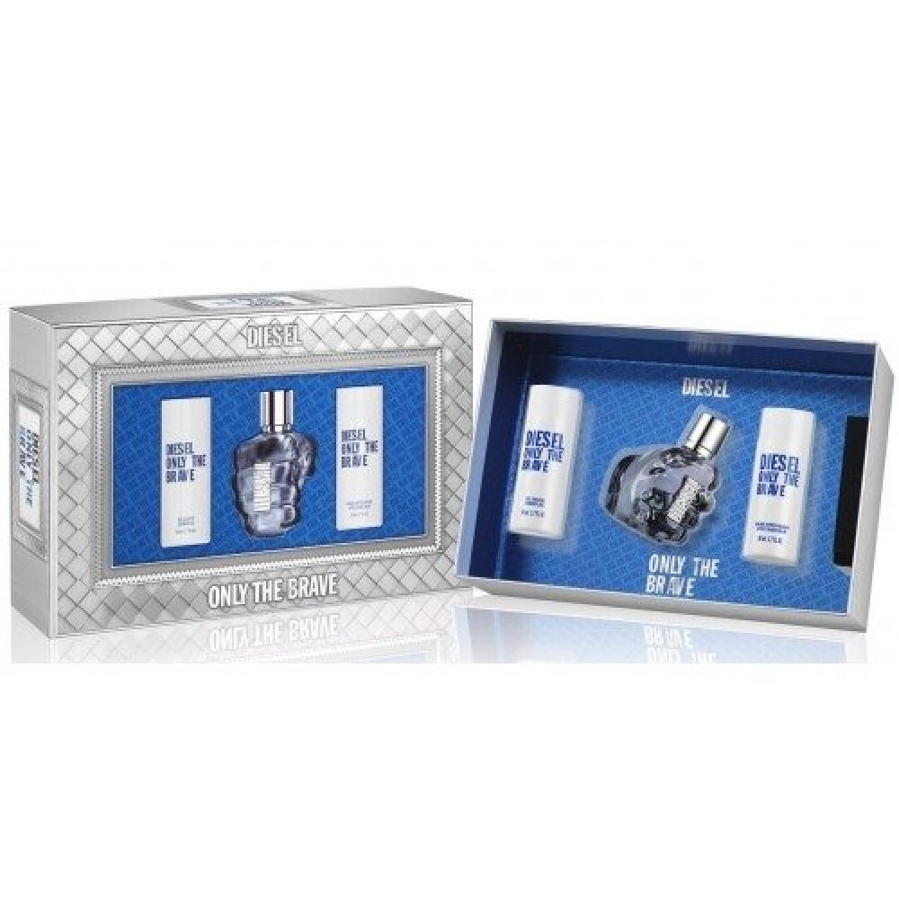 Diesel Only The Brave Eau de Toilette 75ml 3 Gift Set خبير العطور