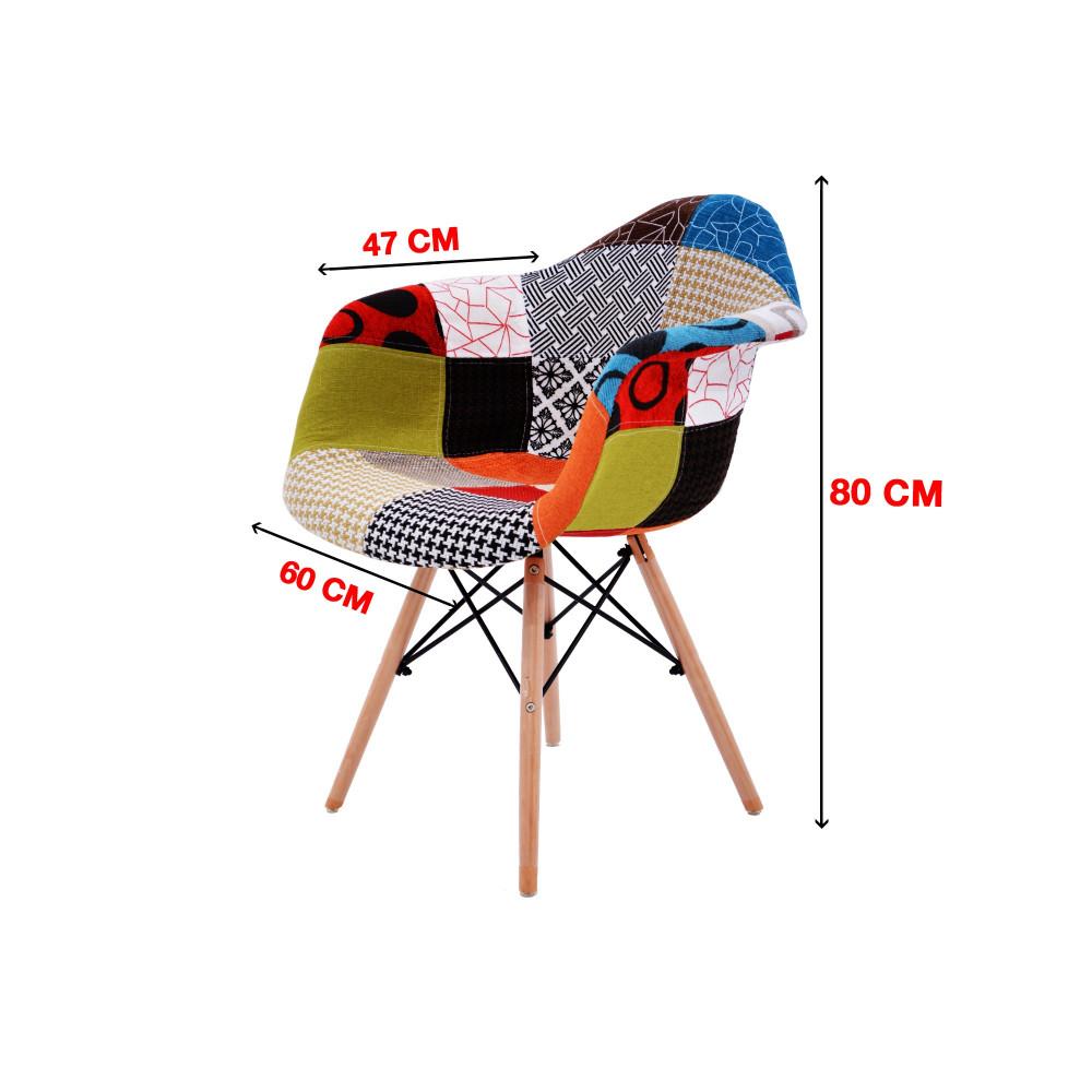 كرسي كاما ملون ارجل خشب C-D-823BM