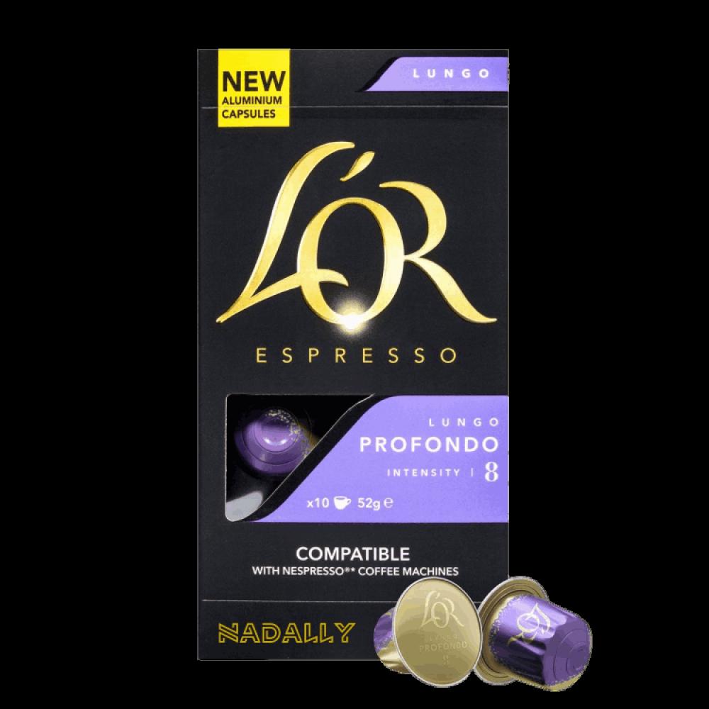 LOR قهوة لور لونغو بروفوندو كبسولات نسبريسو الأصلية Nespresso