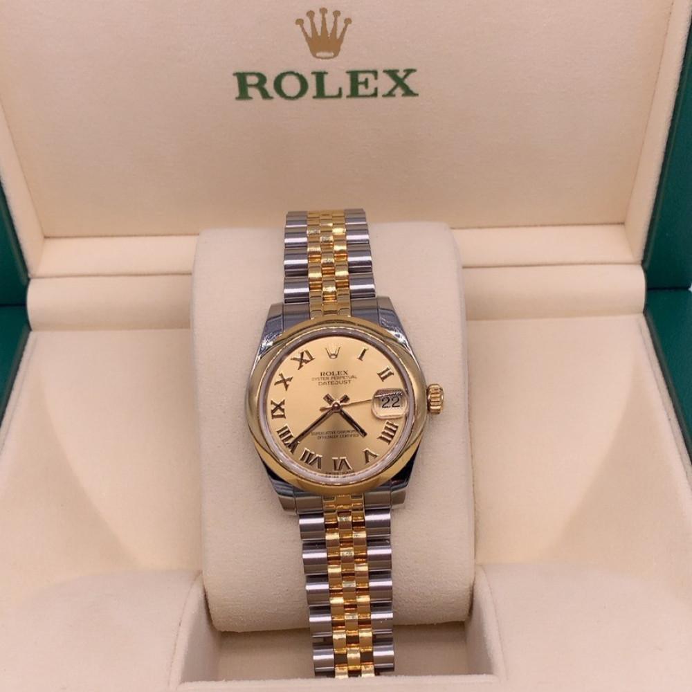 ساعة rolex ديت جست الأصلية مستعملة