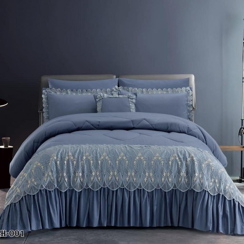 مفرش سرير قطن نوع كشكش نوع ممتاز
