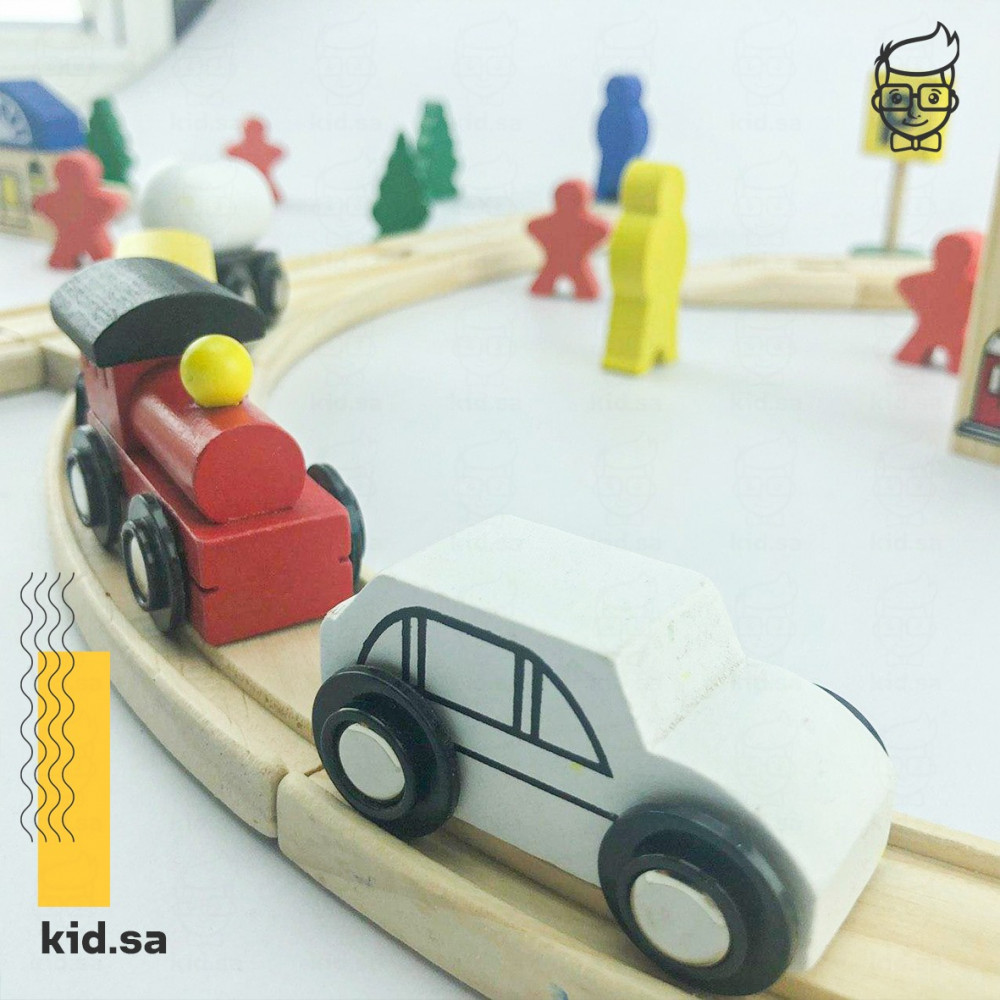متجر لعبة القطار الخشبي
