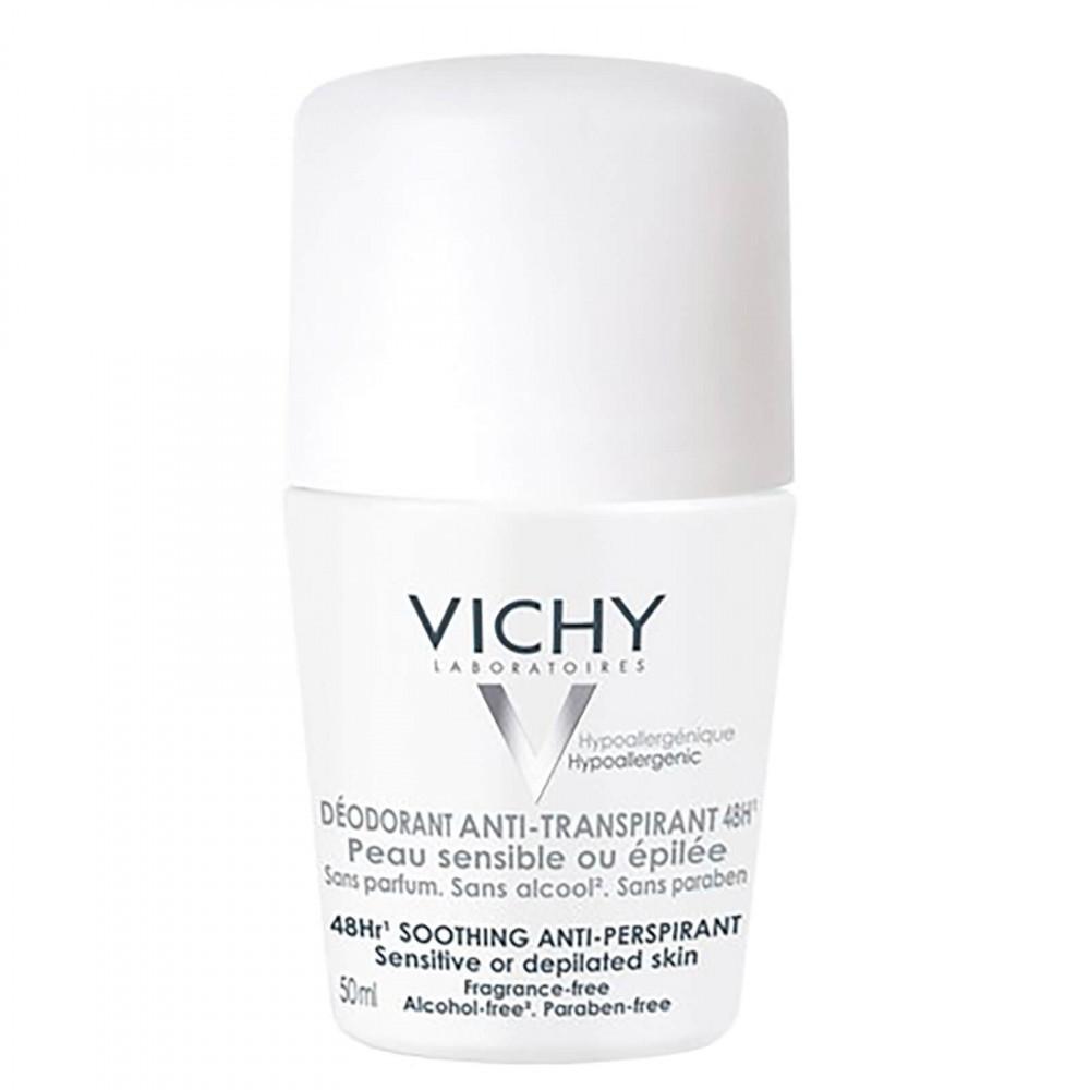 مزيل عرق يدوم لمدة 48 ساعة للبشرة الحساسة من فيشي Vichy