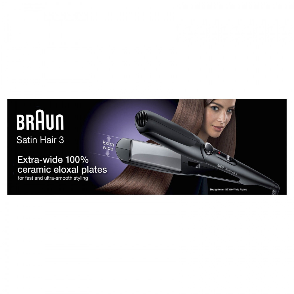 Braun Satin Hair 3 ST310 Hair Straightener With Wide Plates