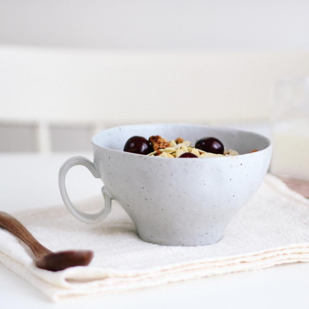 كوب حجري صناعة يدوية  أدوات القهوة المختصة كوب لاتيه كوب كونكريت