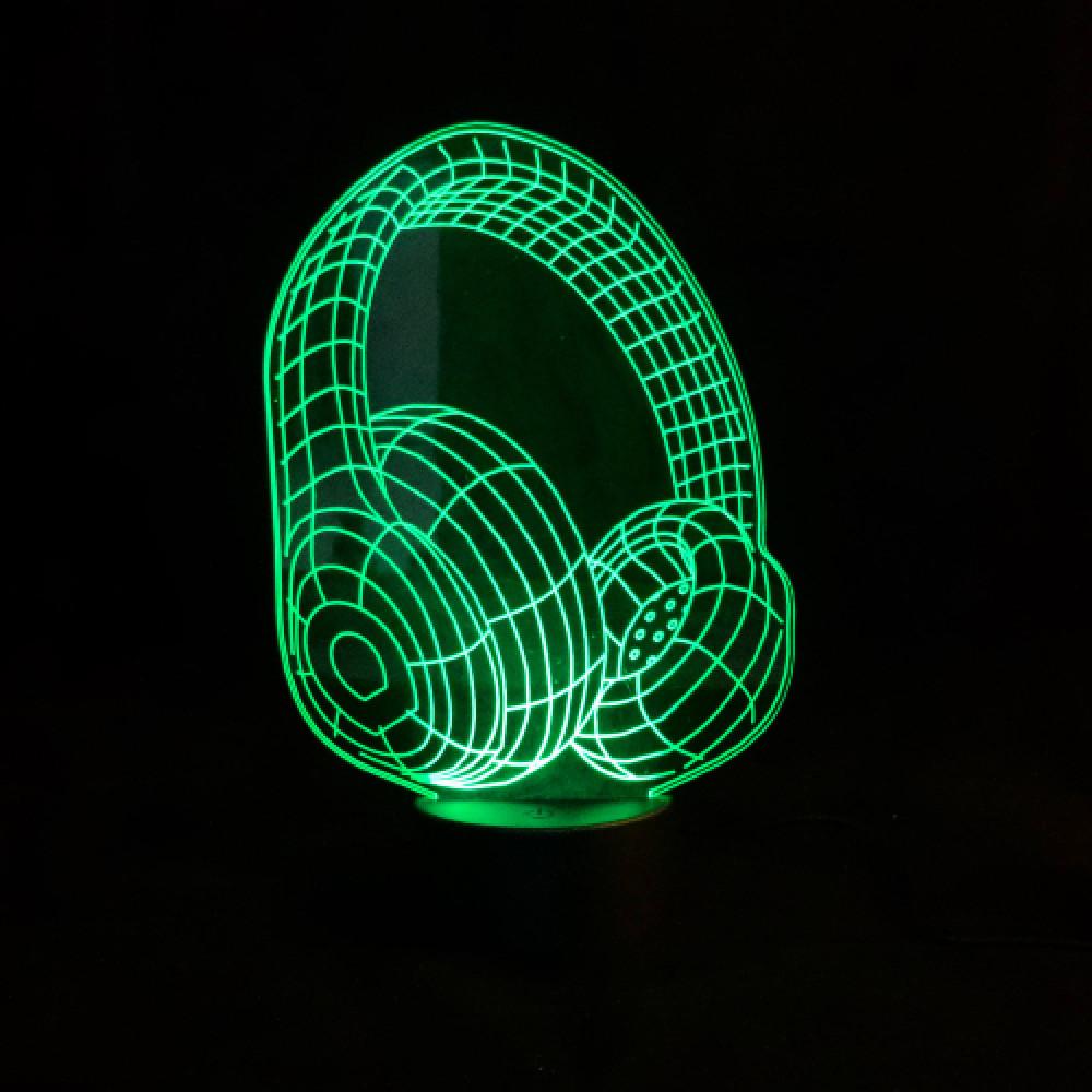مصباح LED ثلاثي الأبعاد بسبعه اللوان