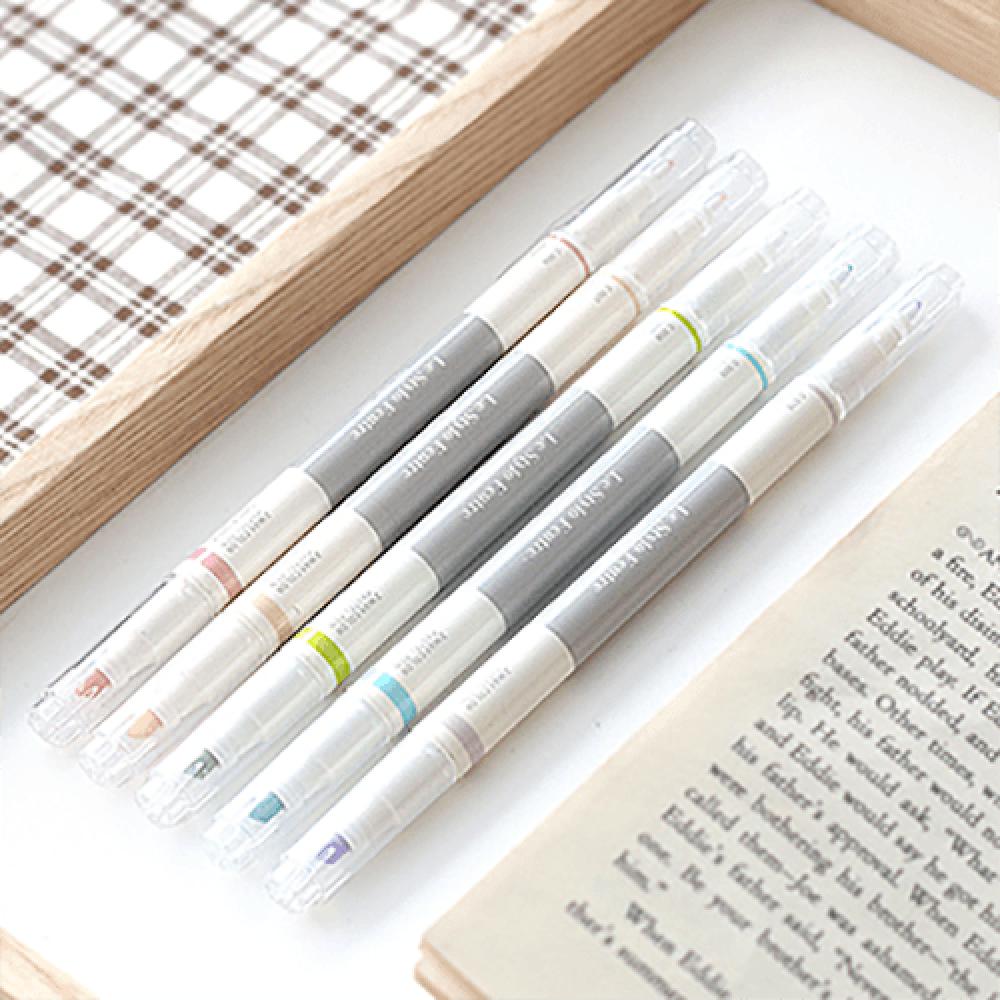 أقلام تحديد ملونة وبألوان فسفورية للتحديد
