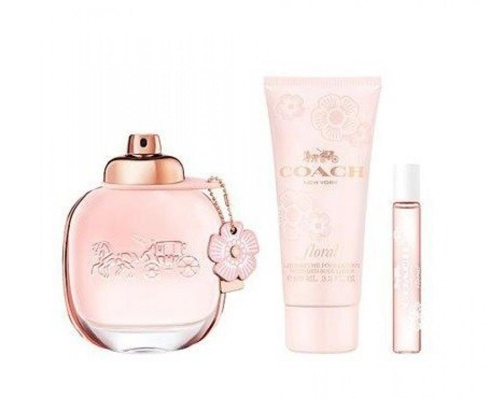 Coach New York Floral Eau de Parfum 90ml 3 Gift Set