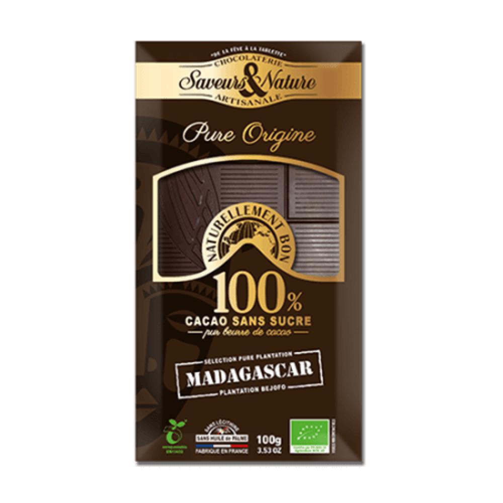شوكولاتة الكاكاو 100 عضوي 100 جرام