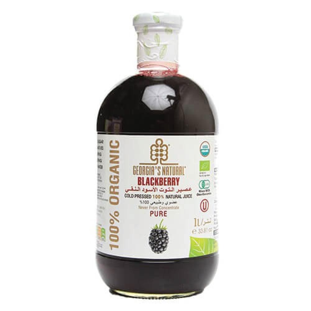 عصير التوت الأسود العضوي النقي 1 لتر