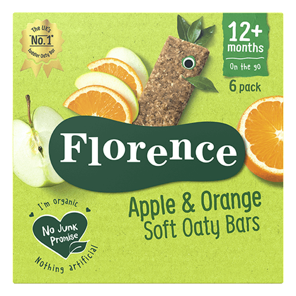 كعك الشوفان بالتفاح والبرتقال عضوي 180 جرام