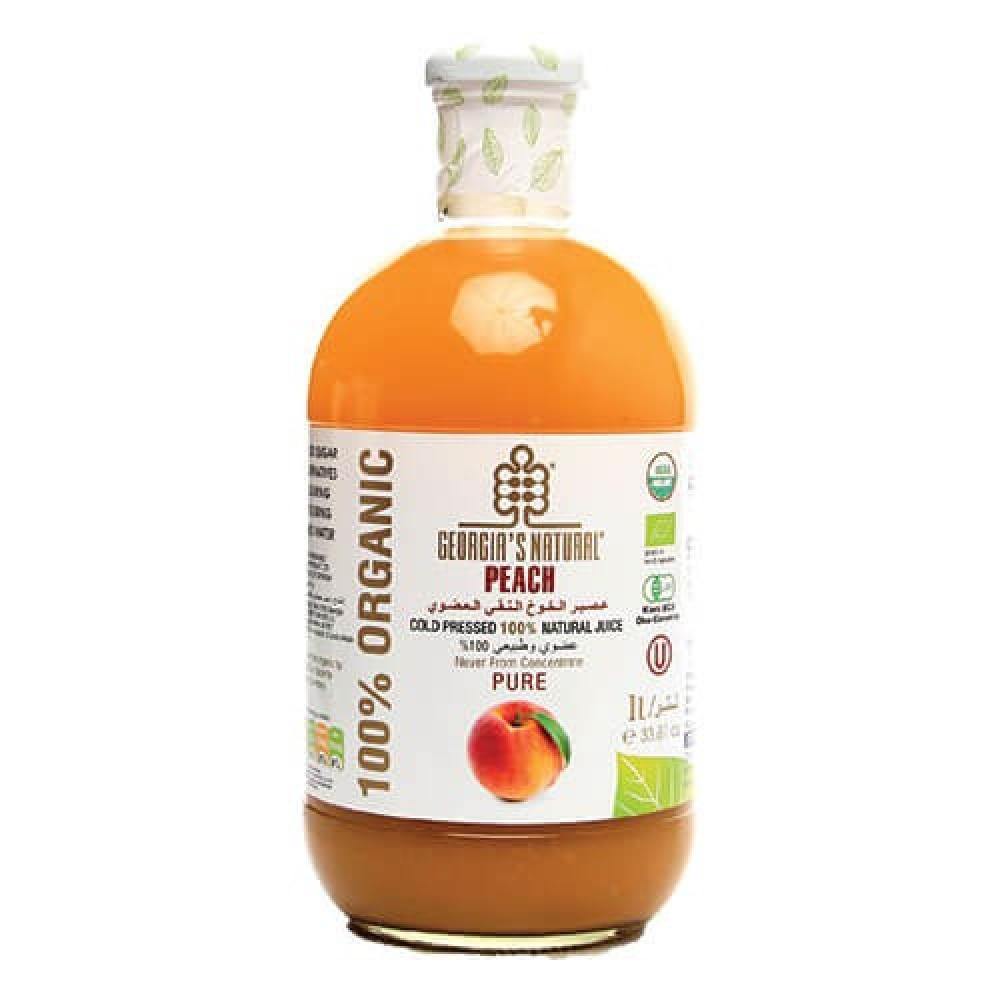 عصير الخوخ العضوي النقي 1 لتر