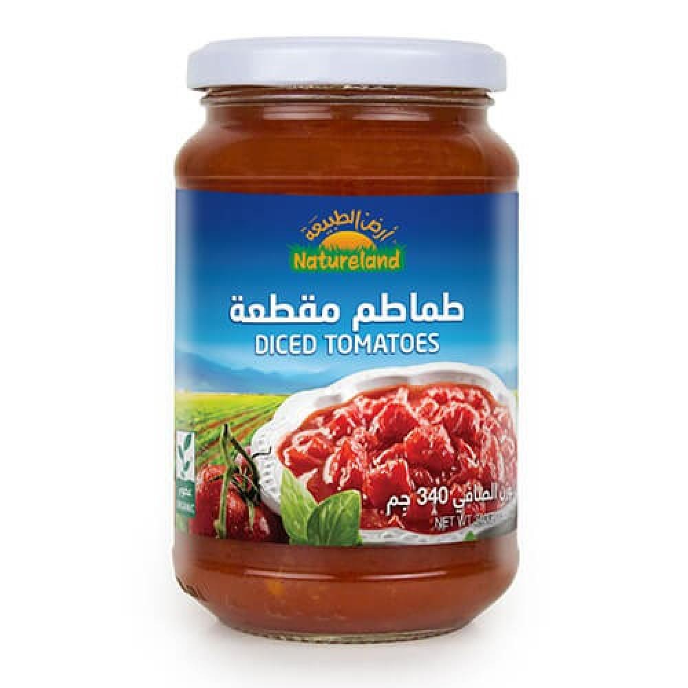 طماطم مقطعة عضوي 340 جرام