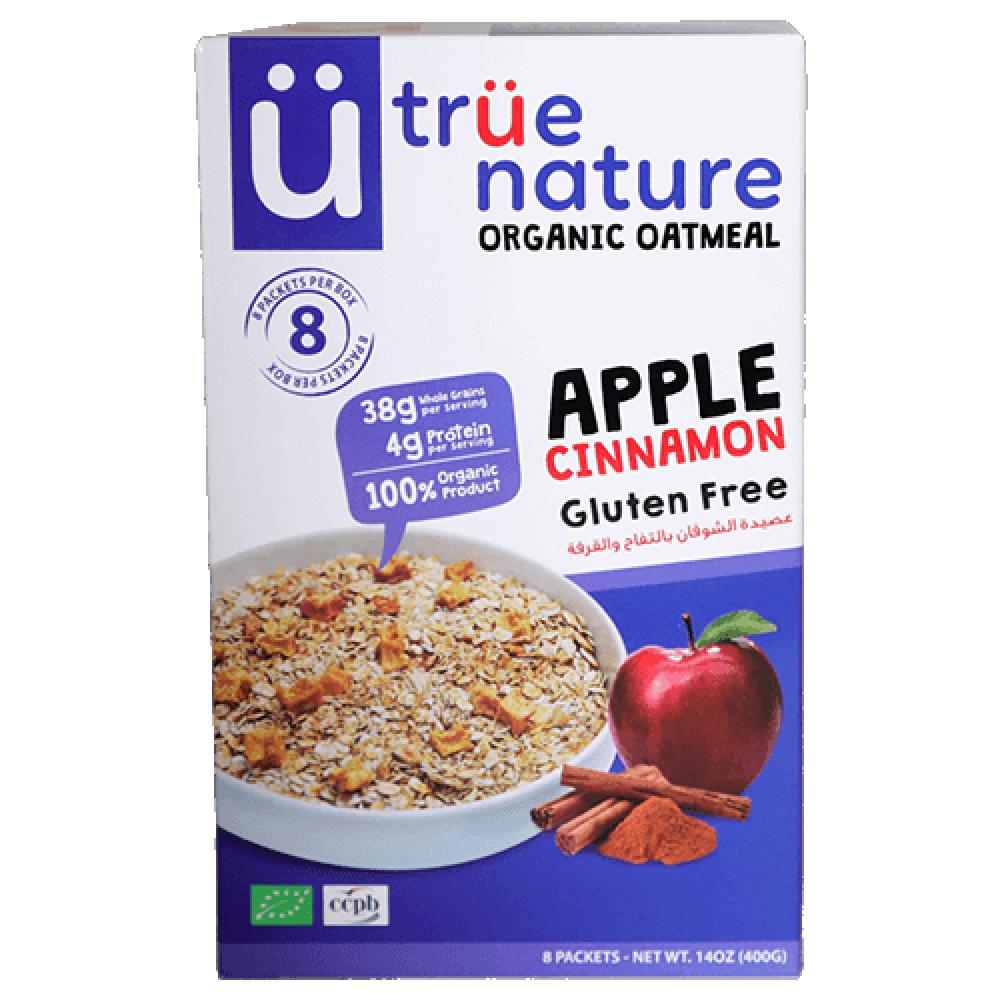 عصيدة الشوفان بالتفاح والقرفة نباتي خالي من الجلوتين 400 جرام