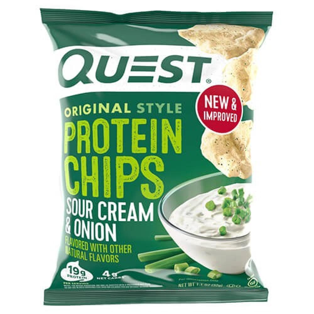 شيبس رقائق بروتين بنكهة القشطة الحامضة والبصل 32 جرام