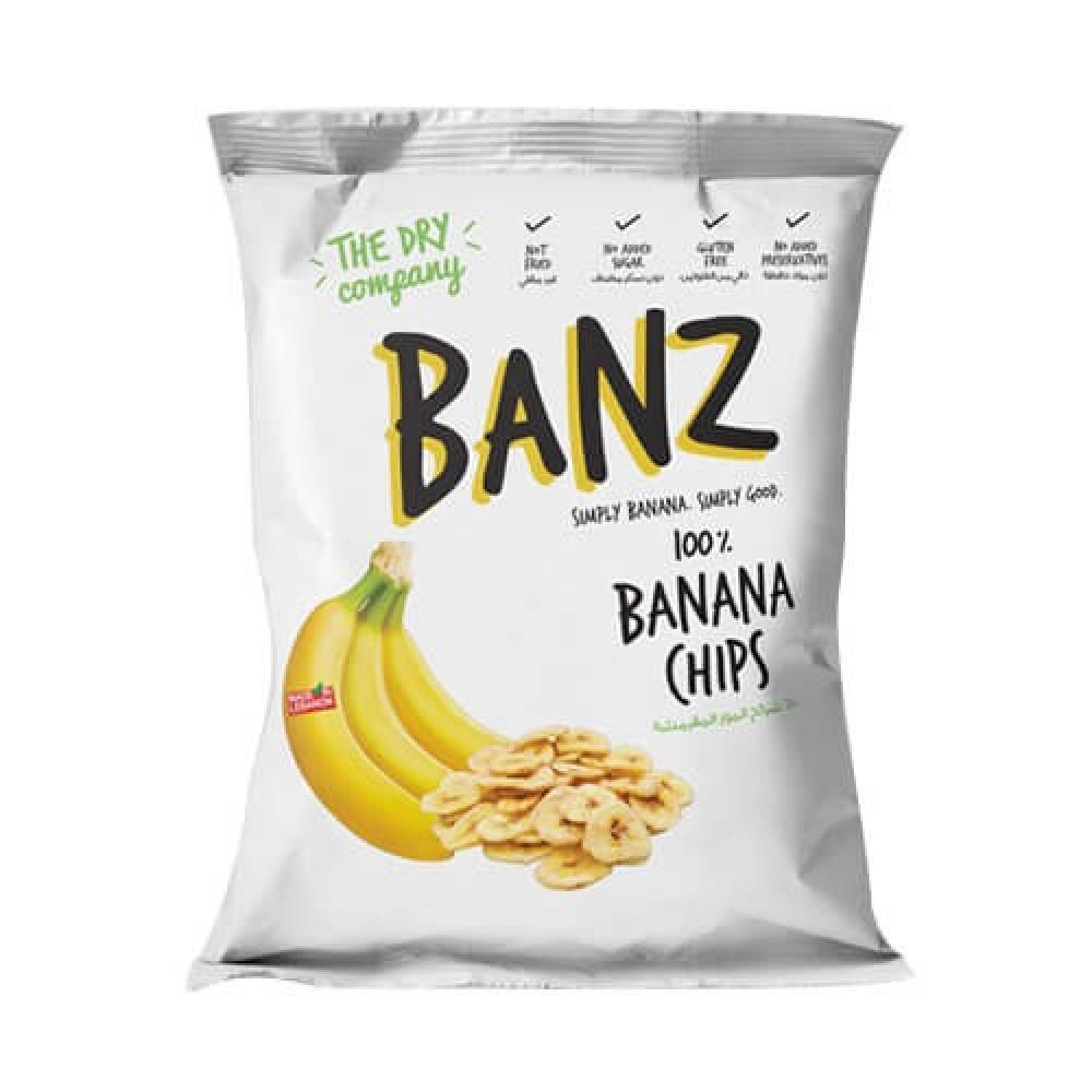 شرائح الموز المجففة خالي من الجلوتين 40 جرام