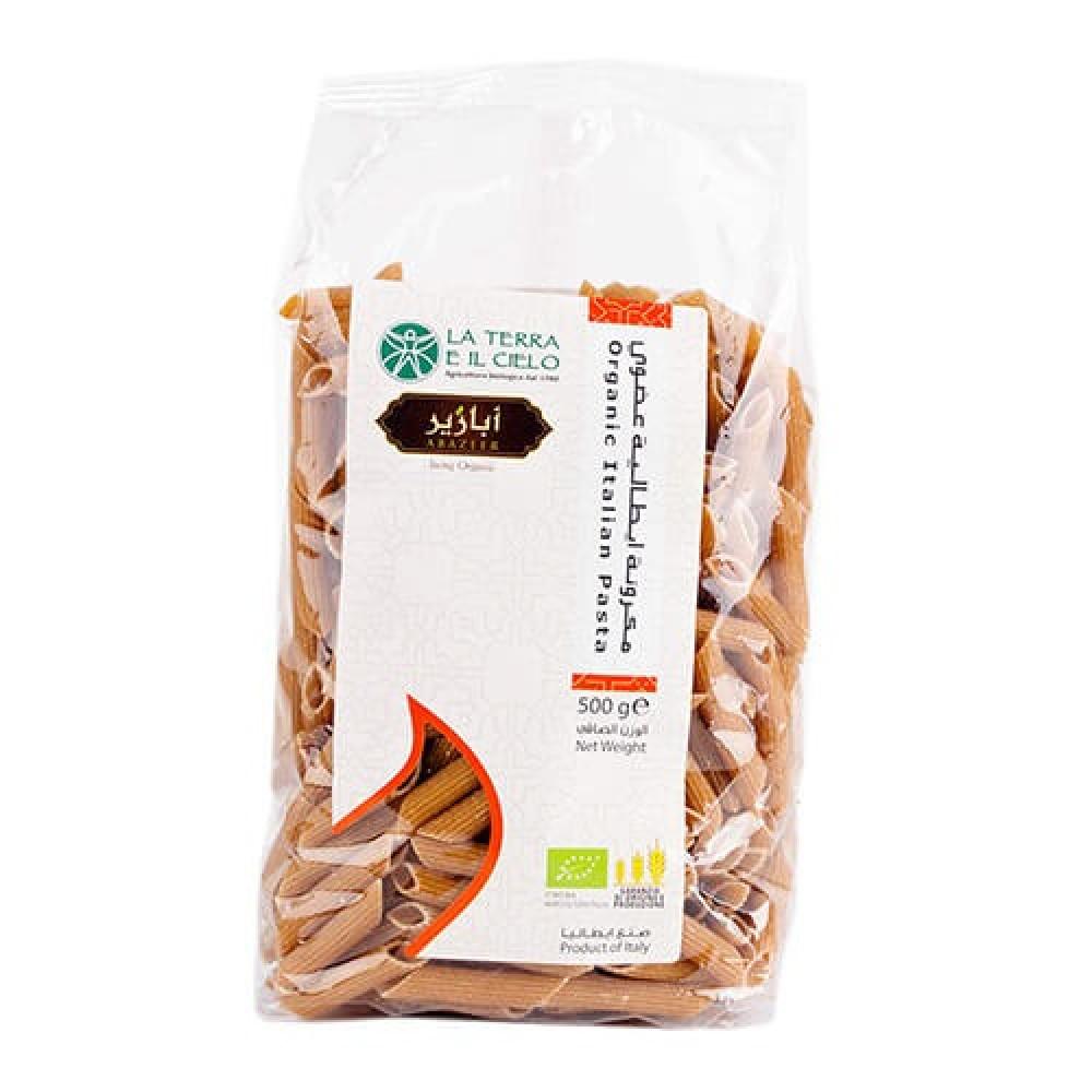 مكرونة القمح الكامل الايطالية بني عضوي 500 جرام