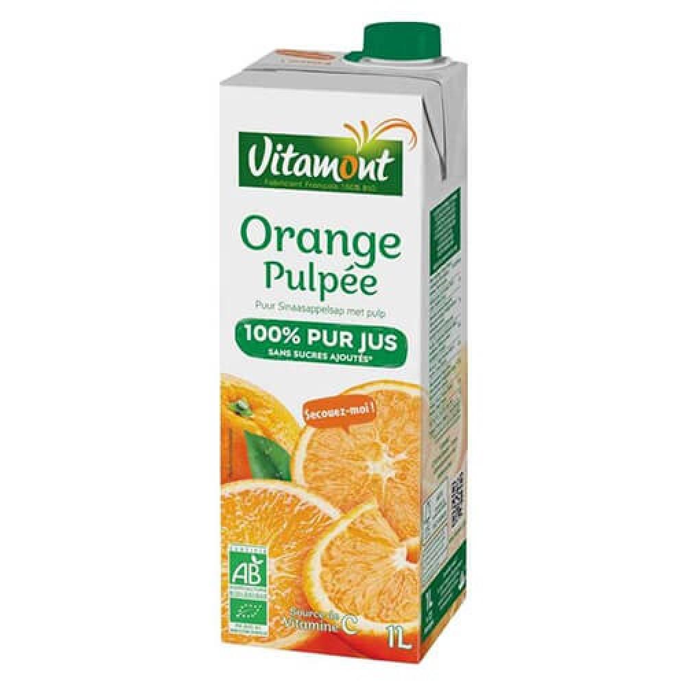 عصير برتقال مع اللب عضوي 1 لتر