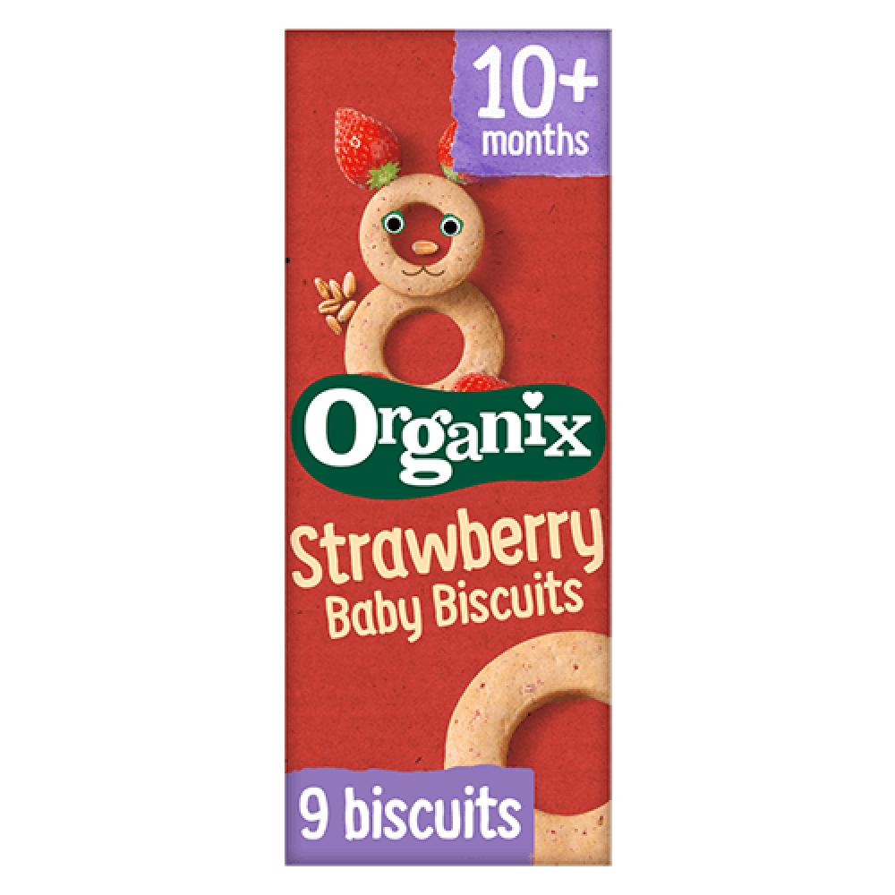بسكويت بنكهة الفراولة عضوي 54 جرام