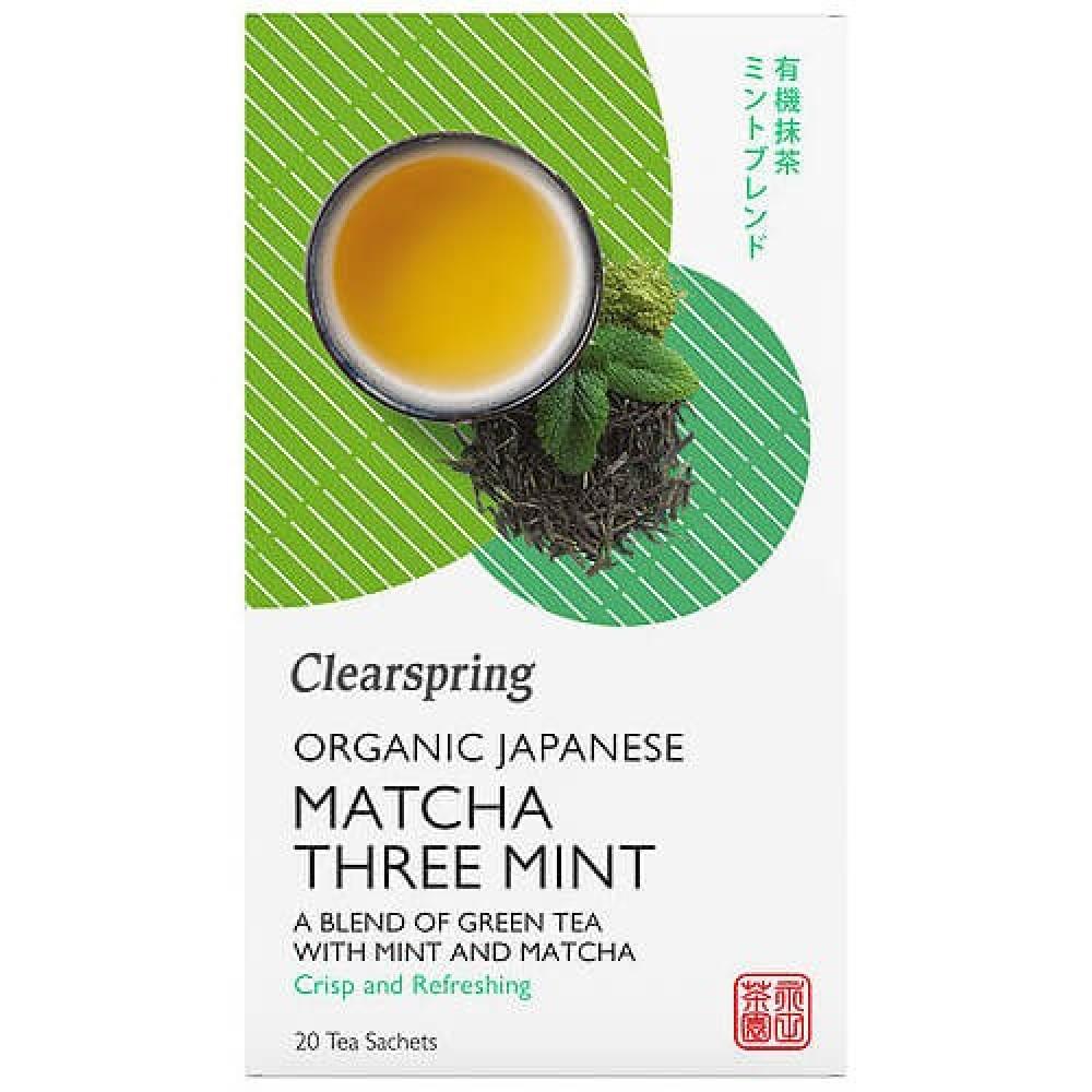 شاي ماتشا ياباني عضوي بالنعناع 20 كيس