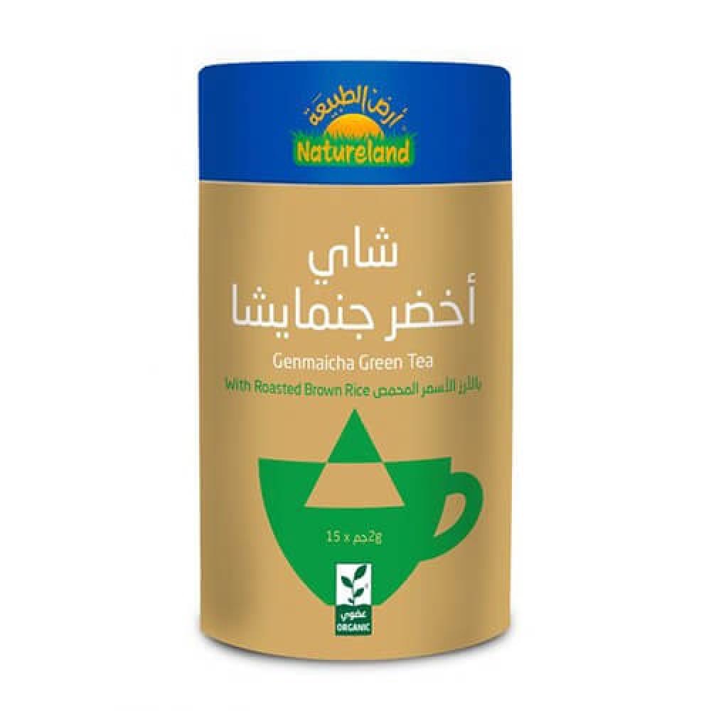 شاي أخضر جنمايشا عضوي 30 جرام