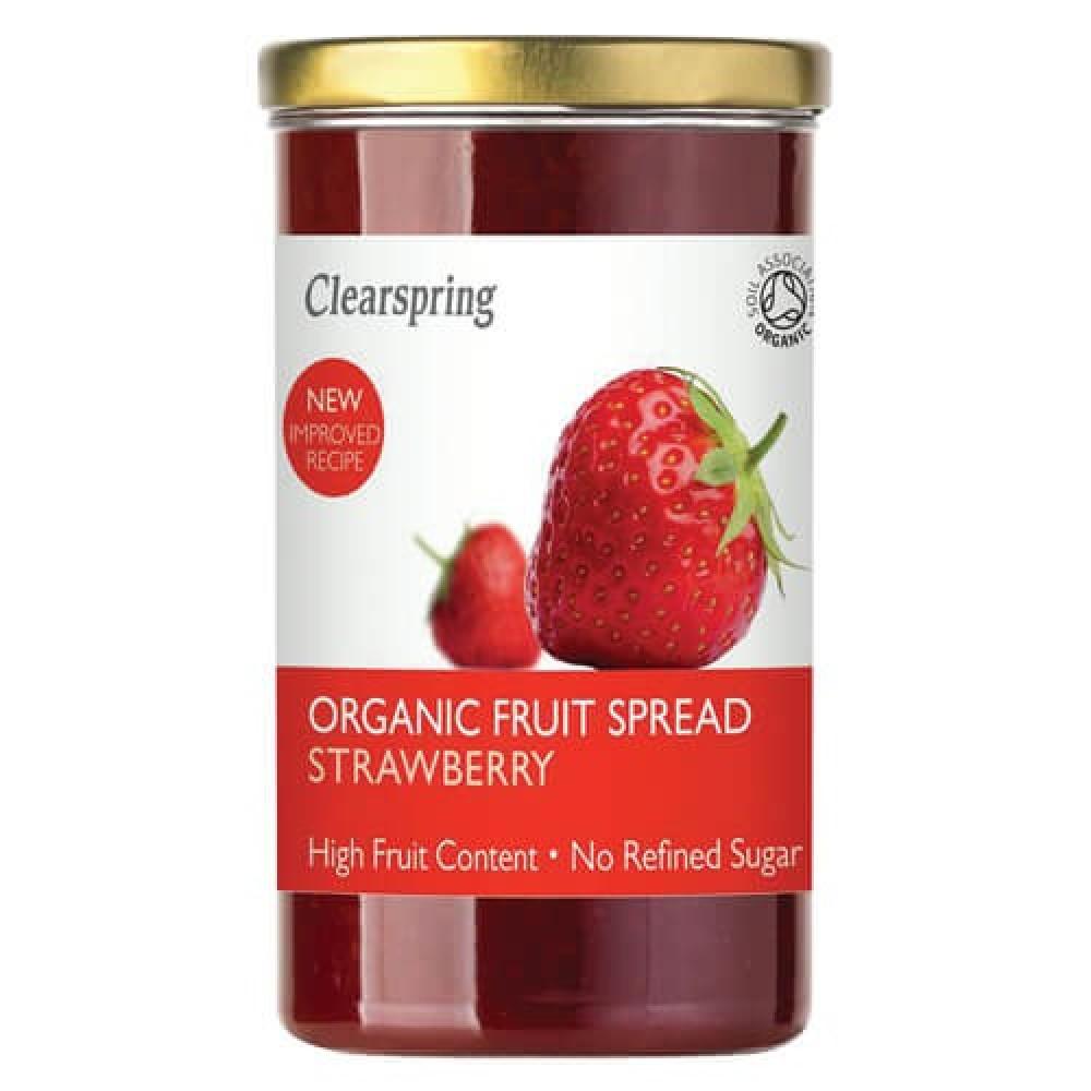 كلير اسبرنج مربى فراولة عضوي خالي من السكر 280 جرام