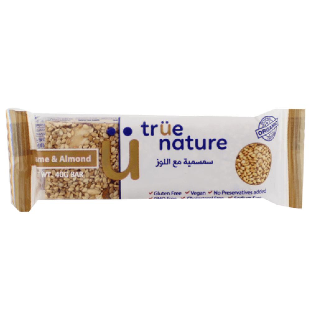 سمسمية مع اللوز نباتية خالية من الجلوتين 40 جرام