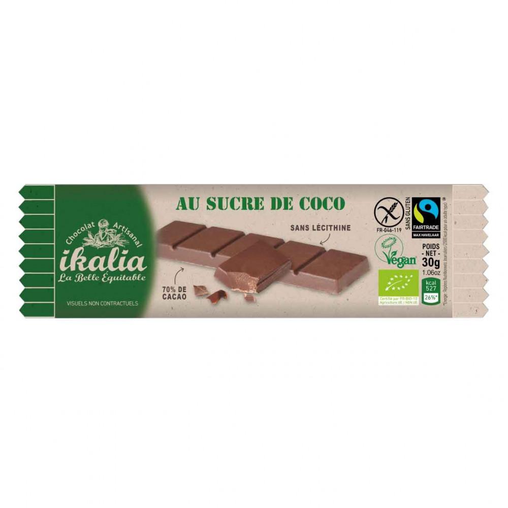 بار شوكولاتة الداكنة 70 مع سكر زهرة جوز الهند 30 جرام