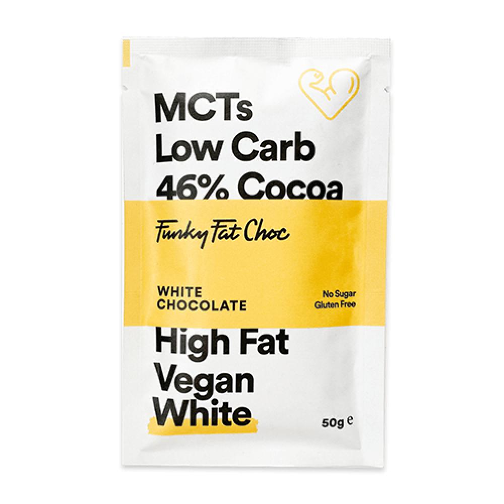 كيتو شوكولاتة بيضاء مع بذور الشيا عضوي 50 جرام