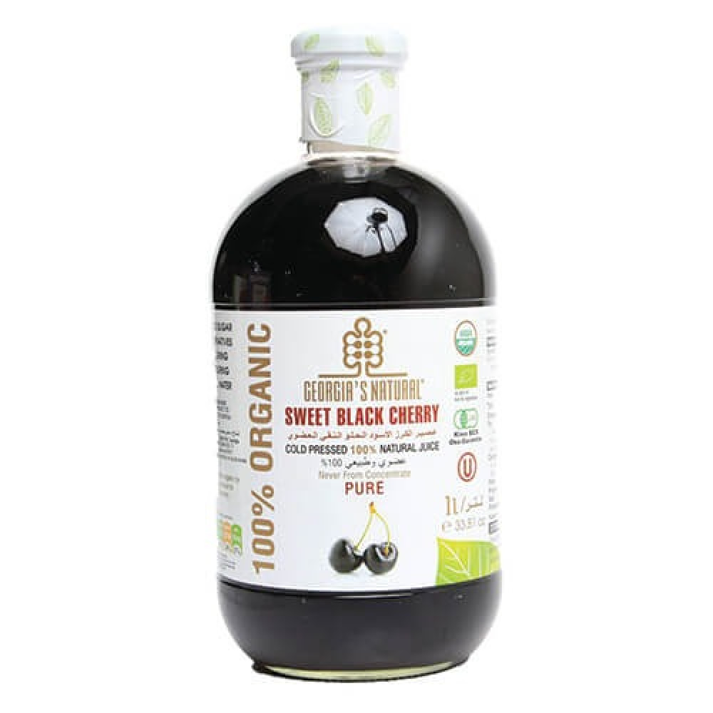 عصير الكرز الأسود الحلو العضوي النقي 1 لتر