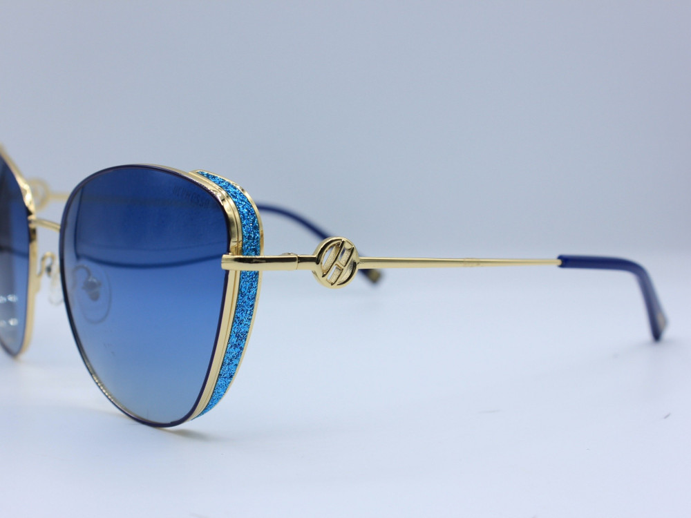 نظاره شمسية مربعه من ماركة  HERMOSSA لون العدسة ازرق نسائية حديثة2021