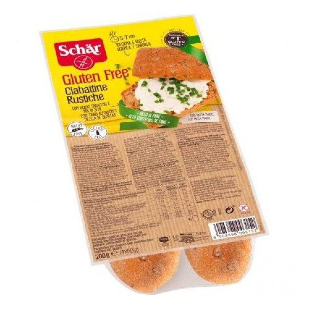 خبز شيباتا أسمر خالي من الجلوتين 200 جرام