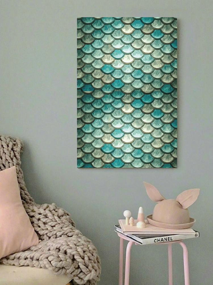 لوحة جلد السمك خشب ام دي اف مقاس 40x60 سنتيمتر