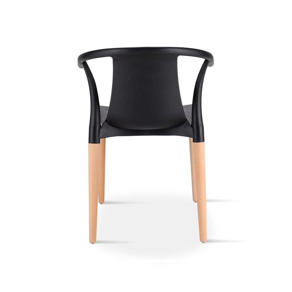 رؤية خلفية للكرسي في طقم كراسي مميز باللون الأسود من تجارة بلا حدود