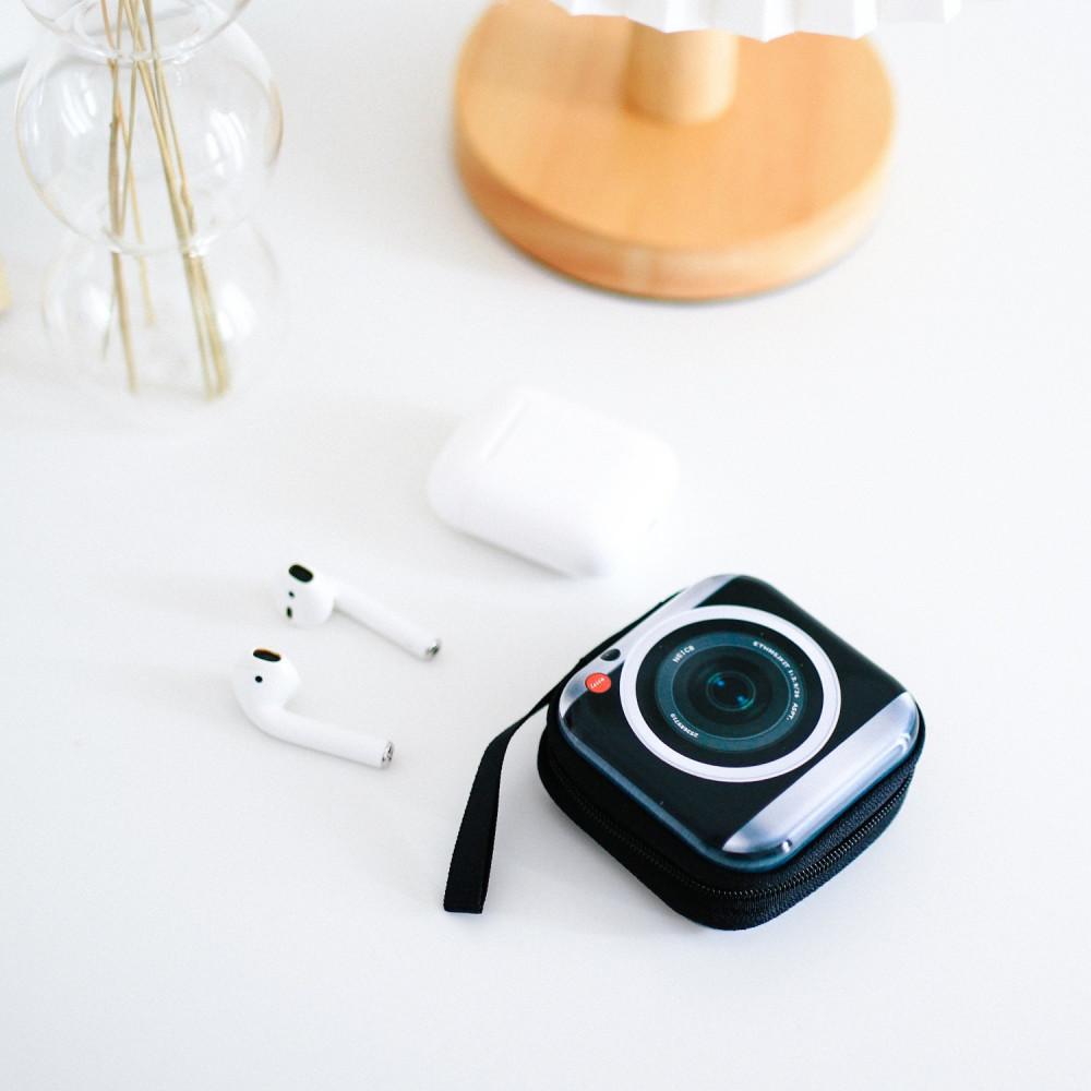 علبة حماية تنظيم للحقيبة لحفظ الأسلاك والسماعات USB سماعة الآيفون