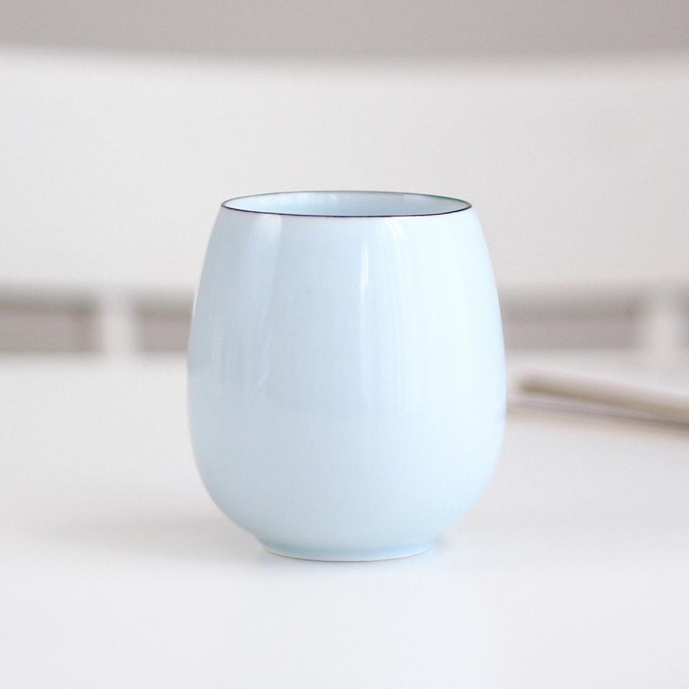 كوب قهوة خزف أكواب قهوة مختصة كوب سيراميك فلات وايت كوب أبيض بيضاوي