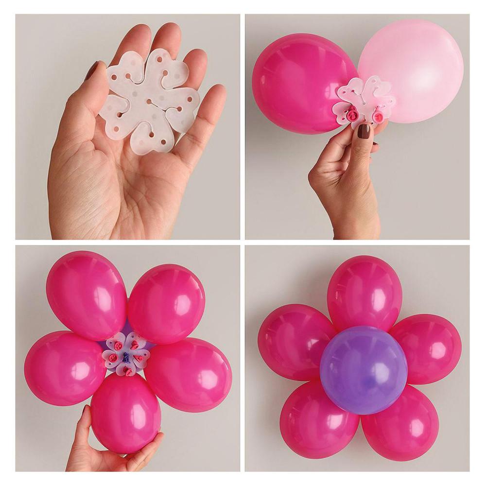 كيف أعمل شكل وردة من البالونات حفلة عيد الأضحي طريقة تنسيق طاولة العيد