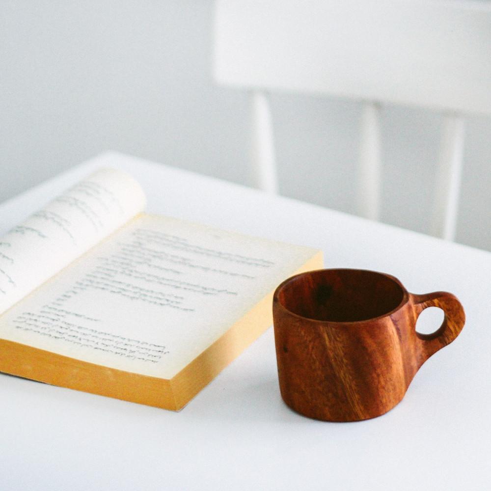 كوب خشب الجوز كوب قهوة أواني خشب ديكور ركن القهوة أكواب خشبية متجر