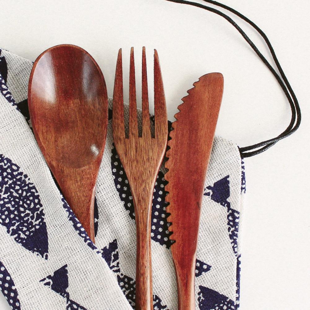 طقم أدوات الطعام أواني هايكنج أدوات السفر نباتيين ملعقة نفيقن فيجن