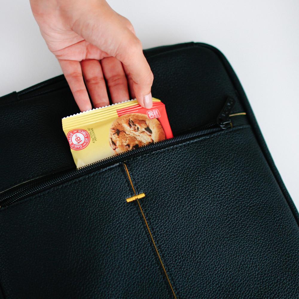 حقيبة لابتوب جلد أسود رجالية نسائية حقائب كمبيوتر 13 انش ايباد متجر