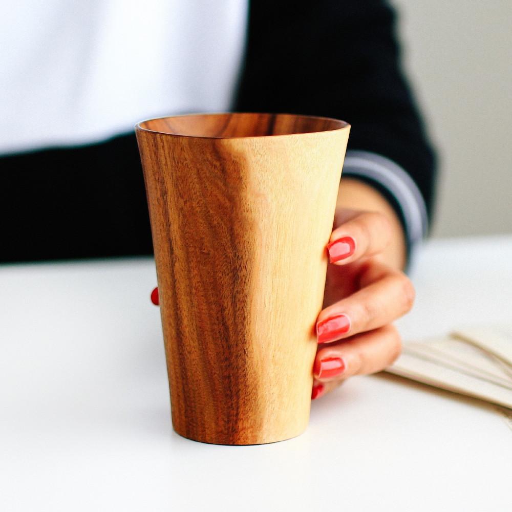 كأس قهوة من خشب الأكاسيا أواني خشبية أفضل الأواني الخشبية أكواب قهوة