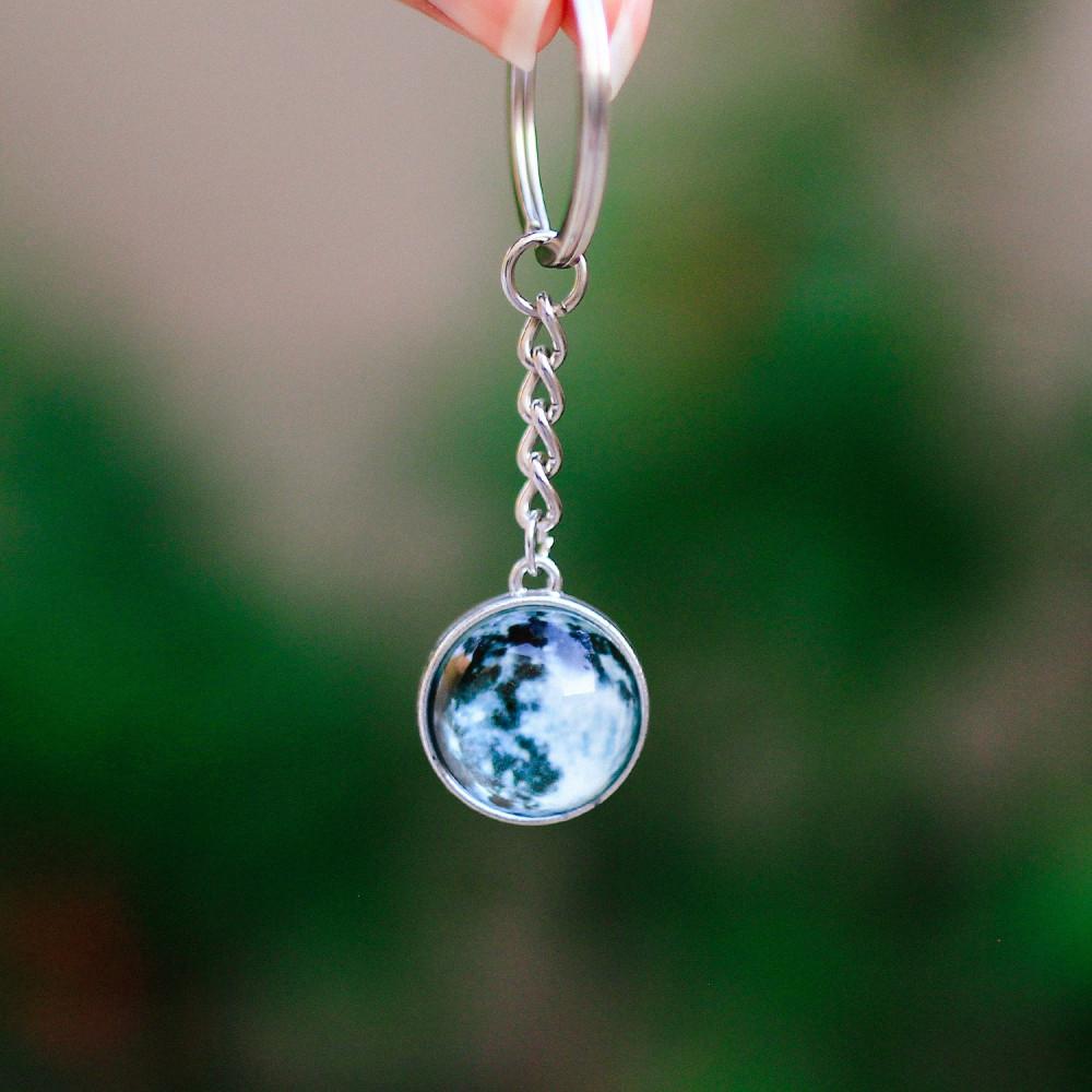 ميدالية قمر فضاء كواكب متجر هدية محل هدايا صور قمر عندما يكتمل القمر