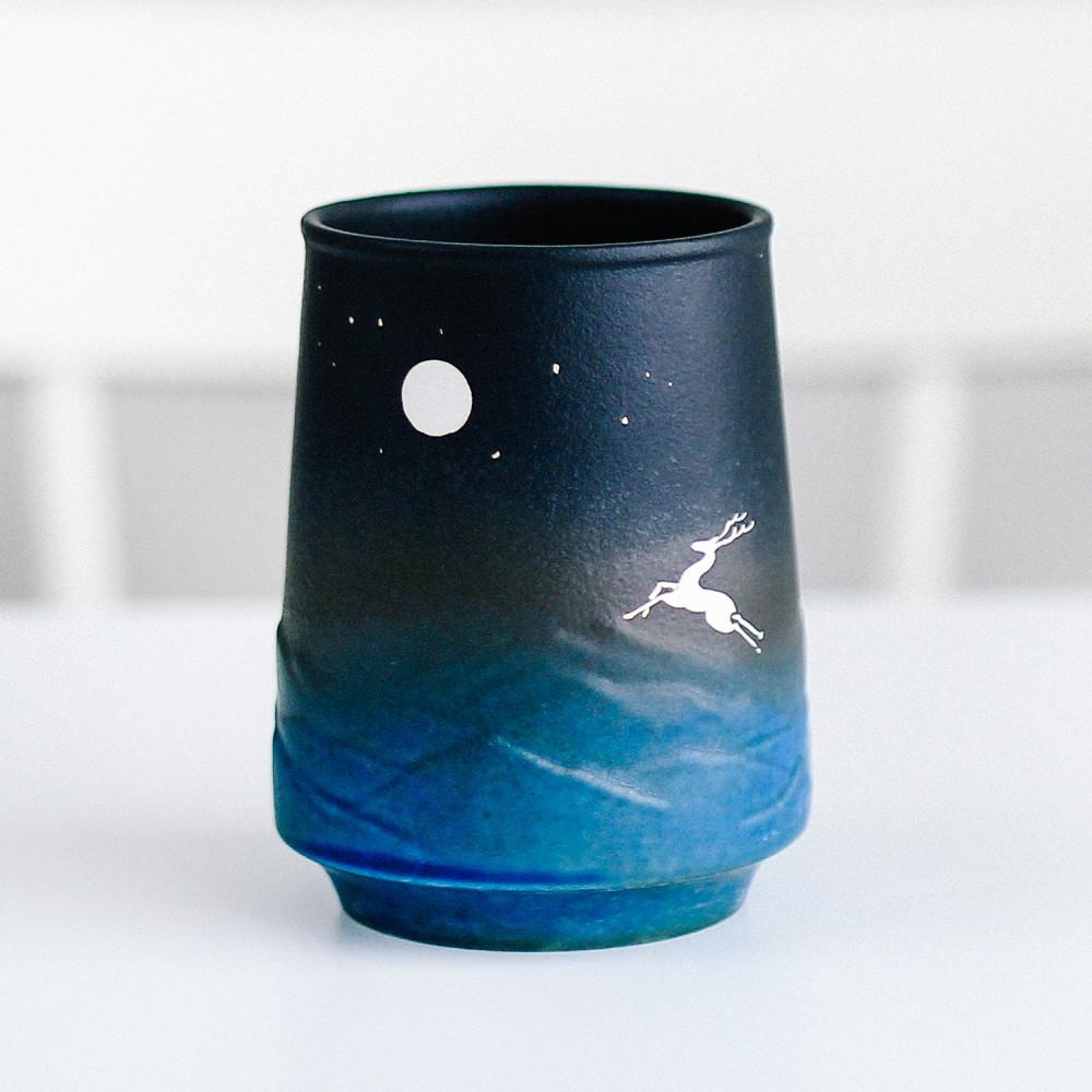 كوب قهوة سيراميك أكواب قهوة مختصة  أدوات ركن القهوة غزال قمر كوب بحر