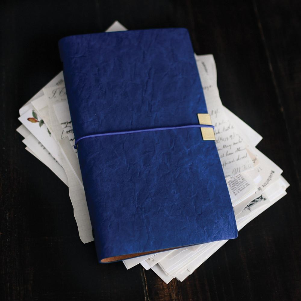 دفتر جلد أزرق مذكرات كشكول قرطاسية أدوات مدرسة جامعة لوازم مكتبية