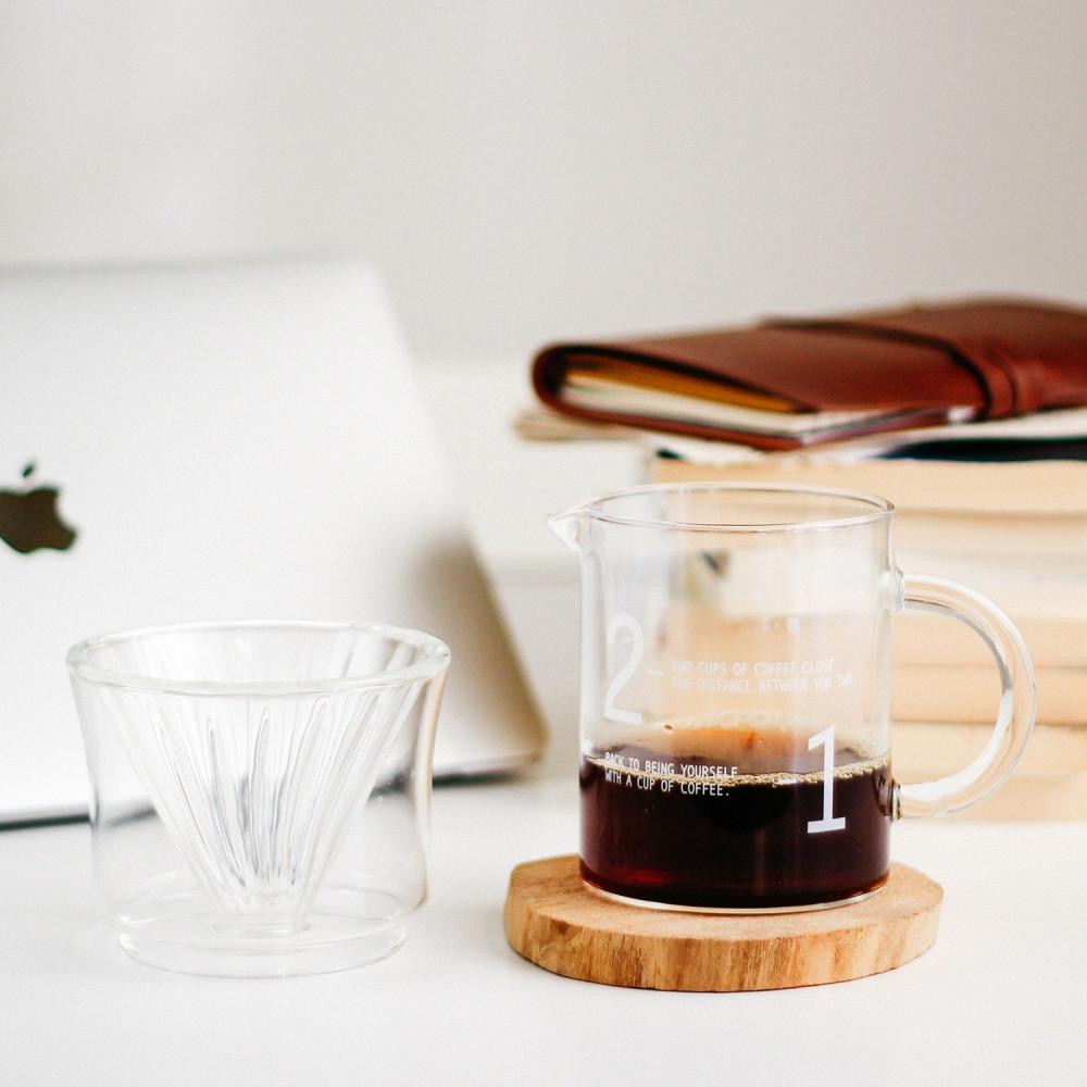 طريقة القهوة المقطرة v60 هاريو فلتر v60 كيمكس أدوات القهوة المقطرة
