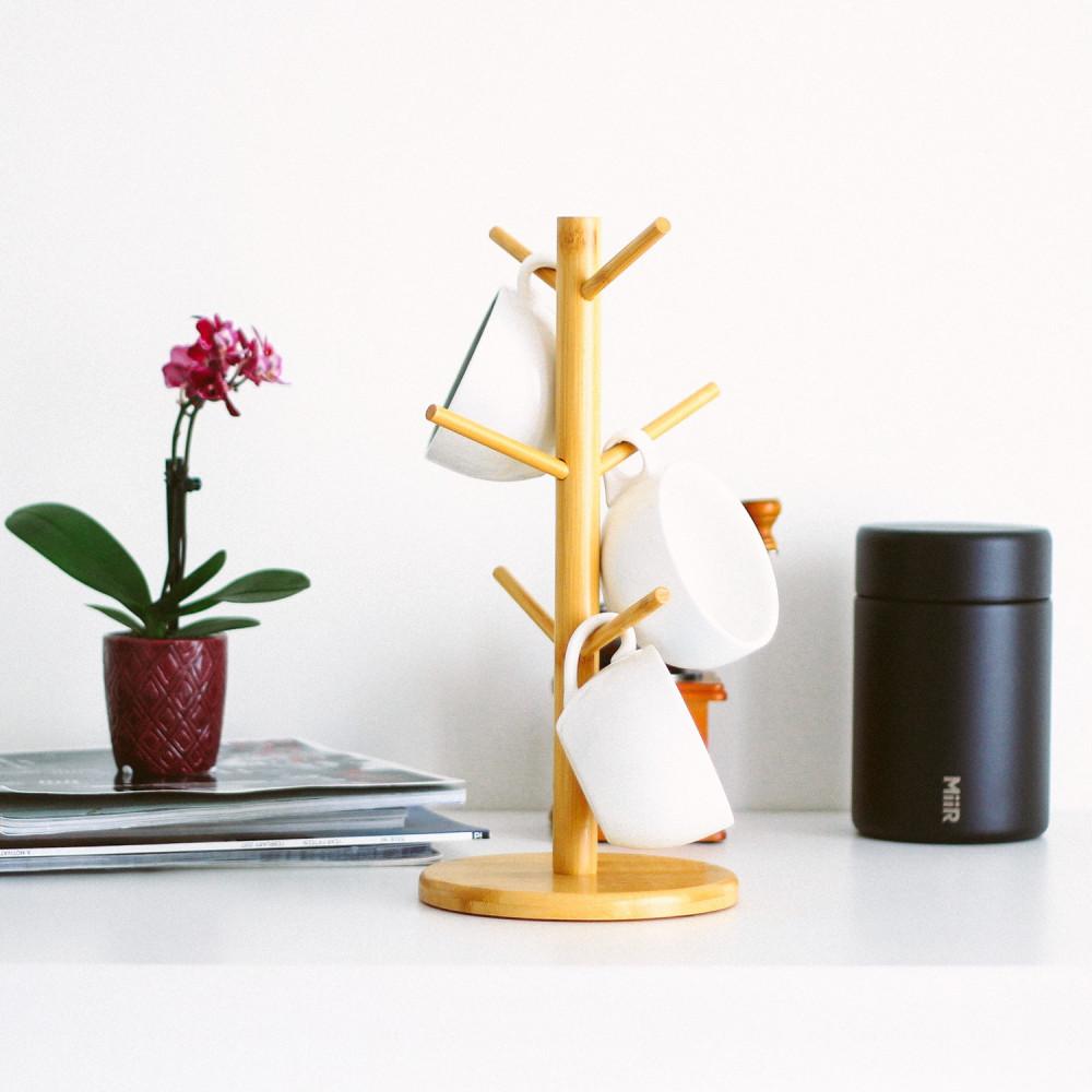 طريقة تنظيم رف أكواب القهوة منتجات خشبية لركن القهوة خشبيات أدوات