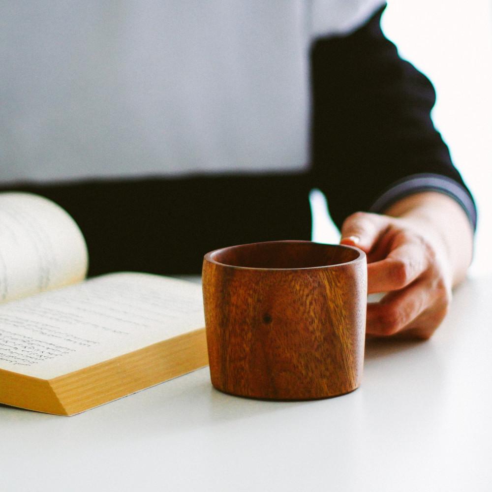 كوب خشب أكواب قهوة أواني خشبية ديكور ركن القهوة أكواب خشب متجر خشبيات