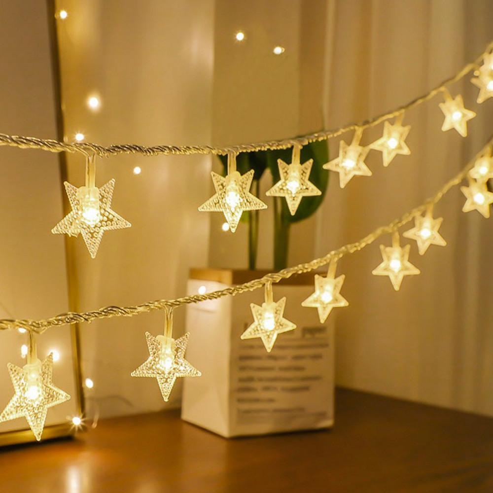 إضاءة  ليد شريط إضاءة نجوم تزيين الحفلات تخرج عيد الميلاد حبال زينة