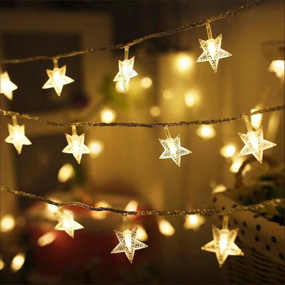 إضاءة زينة ليد شريط إضاءة نجوم تزيين الحفلات تخرج زواج عيد الميلاد