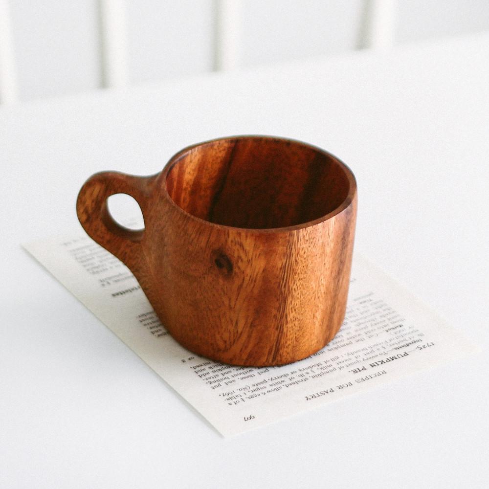 كوب خشب الجوز كوب قهوة أواني خشبية ديكور ركن القهوة أكواب قهوة متجر